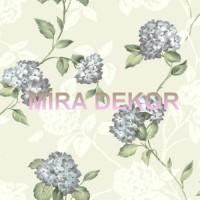 ARB67553 Bej Zeminli Ortanca Çiçekli  Amerika Duvar Kağıdı