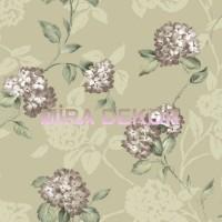 ARB67554 Ortanca Çiçekli Lüks Amerika Duvar Kağıdı