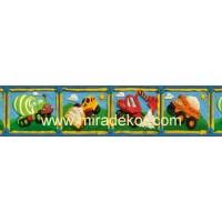 BYR92031B * Stokta Var * iş makinaları desenli çocuk odası bordürü