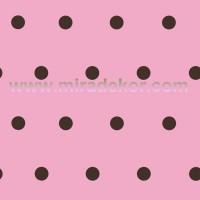 CHR11712 Pembe zeminli Siyah Puanlı Duvar Kağıdı