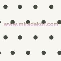 CHR11713  * Stokta Var * Beyaz zeminli Siyah  Puanlı Duvar Kağıdı