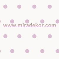 CHR11719 Simli Beyaz Zemin Lila Puanlı Duvar Kağıdı
