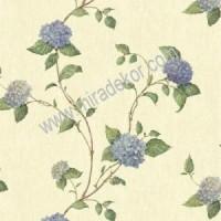 CT47511 Mavi Ortancalı Duvar Kağıdı