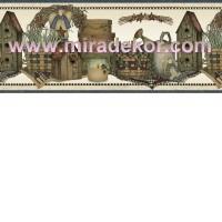 FFR65281B  COUNTRY AMERİKA DUVAR BORDÜRÜ