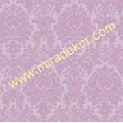 GIR360616 mor damask desenli duvar kağıdı