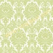 GIR360617 yeşil damask desenli duvar kağıdı