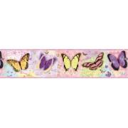 GIR94061B kelebek desenli duvar bordürü