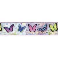 GIR94062B kelebek desenli duvar bordürü