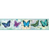 GIR94063B kelebek desenli duvar bordürü