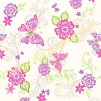 GIR95511 kelebek desenli çocuk odası duvar kağıdı