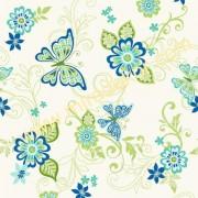 GIR95512 mavi yeşil kelebekli Amerika duvar kağıdı