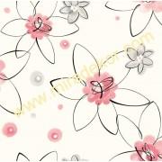 GIR95543 çiçekli çocuk odası duvar kağıdı
