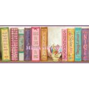 HAS01061B Kız çocuk için kitaplı  bordür