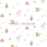 HAS01282 * STOKTA VAR * Sevimli hayvanlar desenli duvar kağıdı