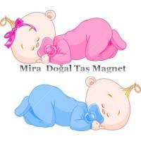Mira Doğal Taş Magnet - Bebek