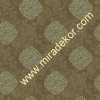 QE14122 kahverengi zeminli modern çiçekli LÜKS AMERİKA duvar kağıdı