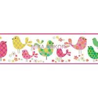 TOT46411B Kuşlu Çocuk Odası Bordürü