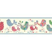 TOT46413B Kuşlu Bebek Odası Bordür
