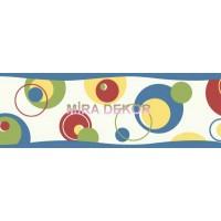 TOT46433B Renkli DAİRE FİGÜRLÜ Genç Odası BORDÜR